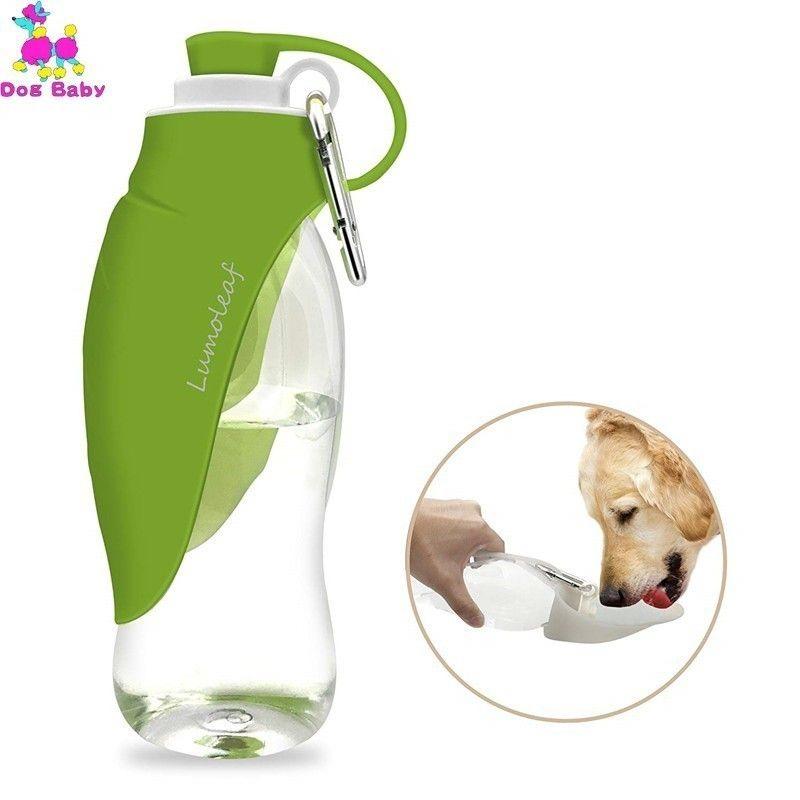 580 ملليلتر زجاجة ماء الكلب للمشي، موزع المياه الحيوانات الأليفة الطاعم حاوية المحمولة مع شرب كأس وعاء المشي لمسافات طويلة، والسفر T200101
