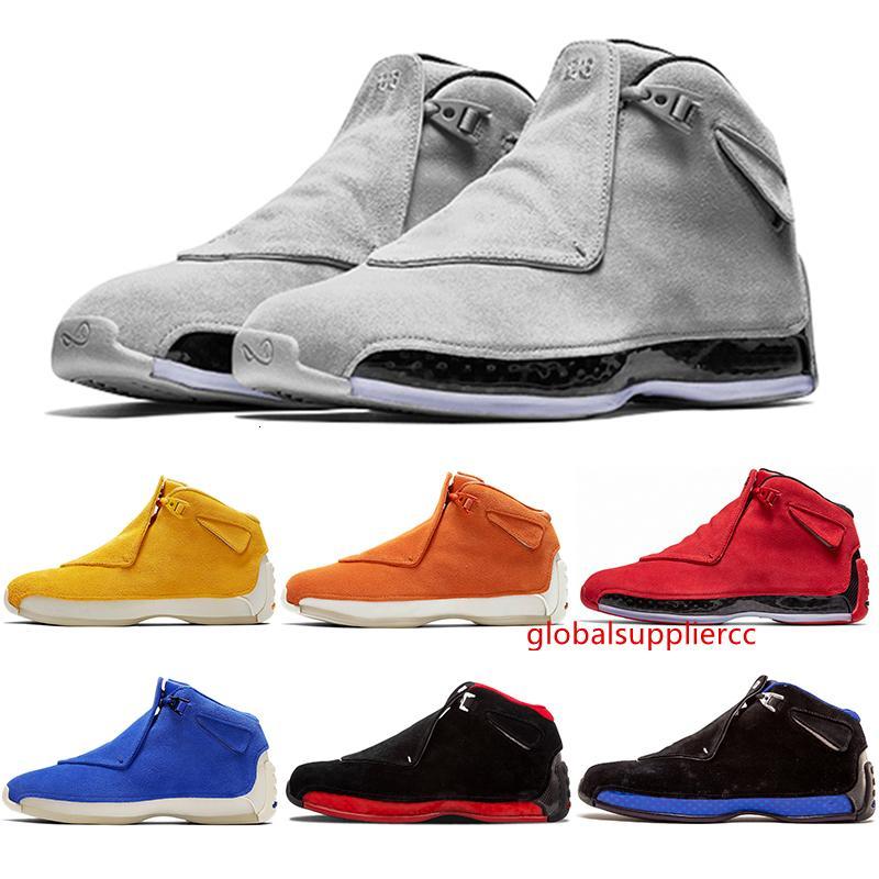 Pas cher 18 XXXIII hommes chaussures de basket-ball 18s Jaune orange en daim gris bleu froid Toro OG chaussures de marque Formateurs Bred Royal Black athlétiques Chaussures
