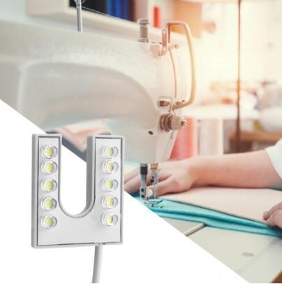 LED de travail Gooseneck Night Light col de cygne flexible à base magnétique pour machine à coudre légère 110-265V EU Plug