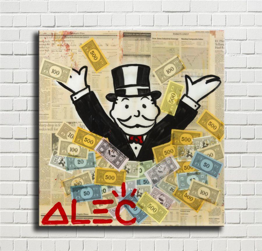 Alec Monopoly 3-1, Impression toile HD Nouvelle Maison Décoration Art Peinture / (Unframed / encadré) merveille Villains