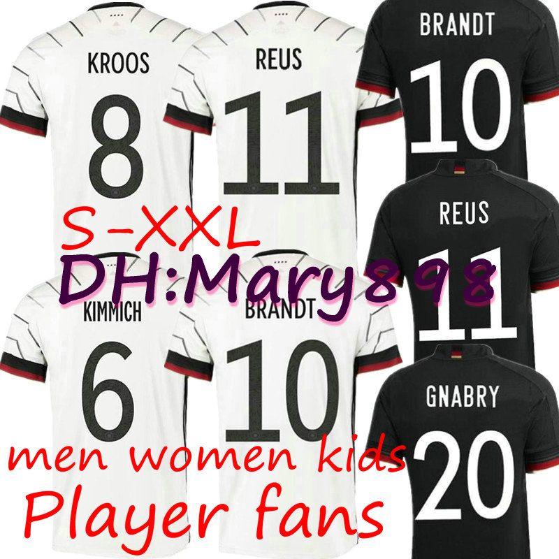 TOP 독일 2020 축구 저지 홈 키트 HUMMELS KROOS 드락 슬러 레 우스 MULLER GOTZE 유럽 컵 축구 셔츠 유니폼 남성 여성 아이 플레이어