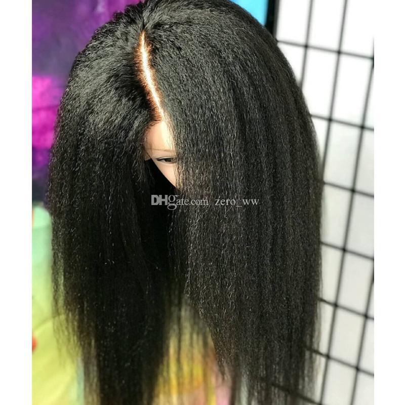 Pelucas de cabello humano de seda sin glotura de seda rizado para mujeres negras 5 * 4.5 Base de seda pelucas de encaje completo con pelo de bebé