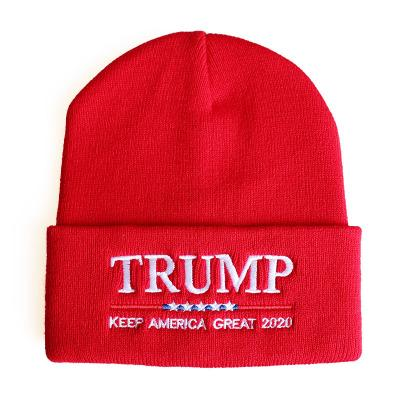 20 Стили Winter Casual Деревообрабатывающий 2020 Trump Caps веса вышивки Свет Мягкие вязаные шапки Donald Trump Трикотажные Мужчины Skullies Шапочки N10Y