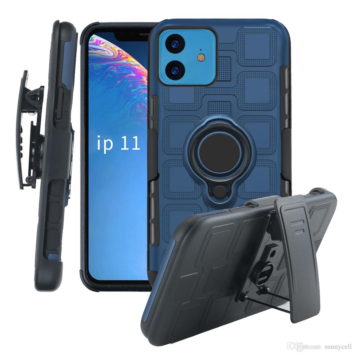 Pour Samsung A90 5G A20S A10S A20E A80 A90 A20 A40 A60 M20 A10E M40 A70 A30S A50 Anneau Béquille clip ceinture de protection anti-choc Téléphone Case