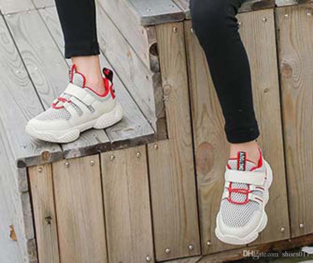 Top Qualité Classique Sneaker Chaussures enfants Mode intelligent chaussures triple pour enfants plate-forme chaussures en cuir air chaussures shoes011 PX452