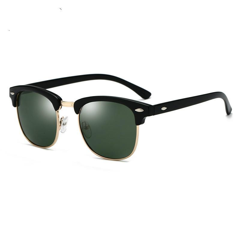 Солнцезащитные очки Мужчины Женщины 3016 Brand Design Eye Солнцезащитные очки Женщины Semi Rimless Классические мужские солнцезащитные очки óculos De Sol UV400