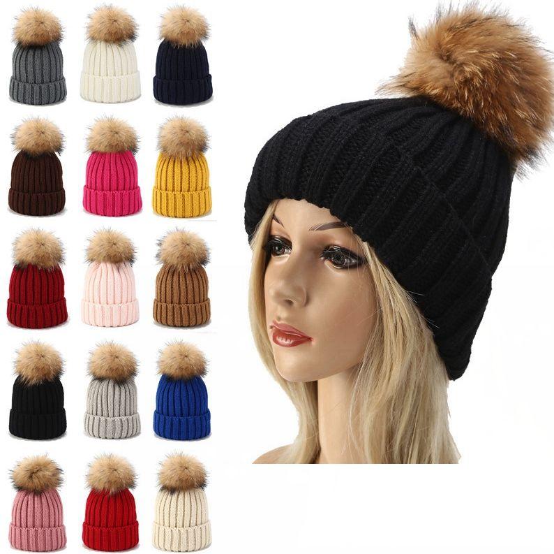 Çocuklar Örme Beanie Şapka Sevimli Bebek Kış Sıcak Bonnet Ponpon Topu Şapka Çocuk Açık Örgü Kayak Kap TTA1697