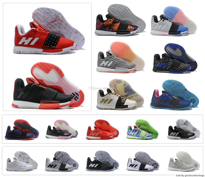 Newst Mens Харден Vol. 3 Iii Mvp Баскетбол обувь ткачество кроссовки мужчин Красный Серый Черный Джеймс Харден 3s Тренеры Спортивная обувь Размер 7-11.5