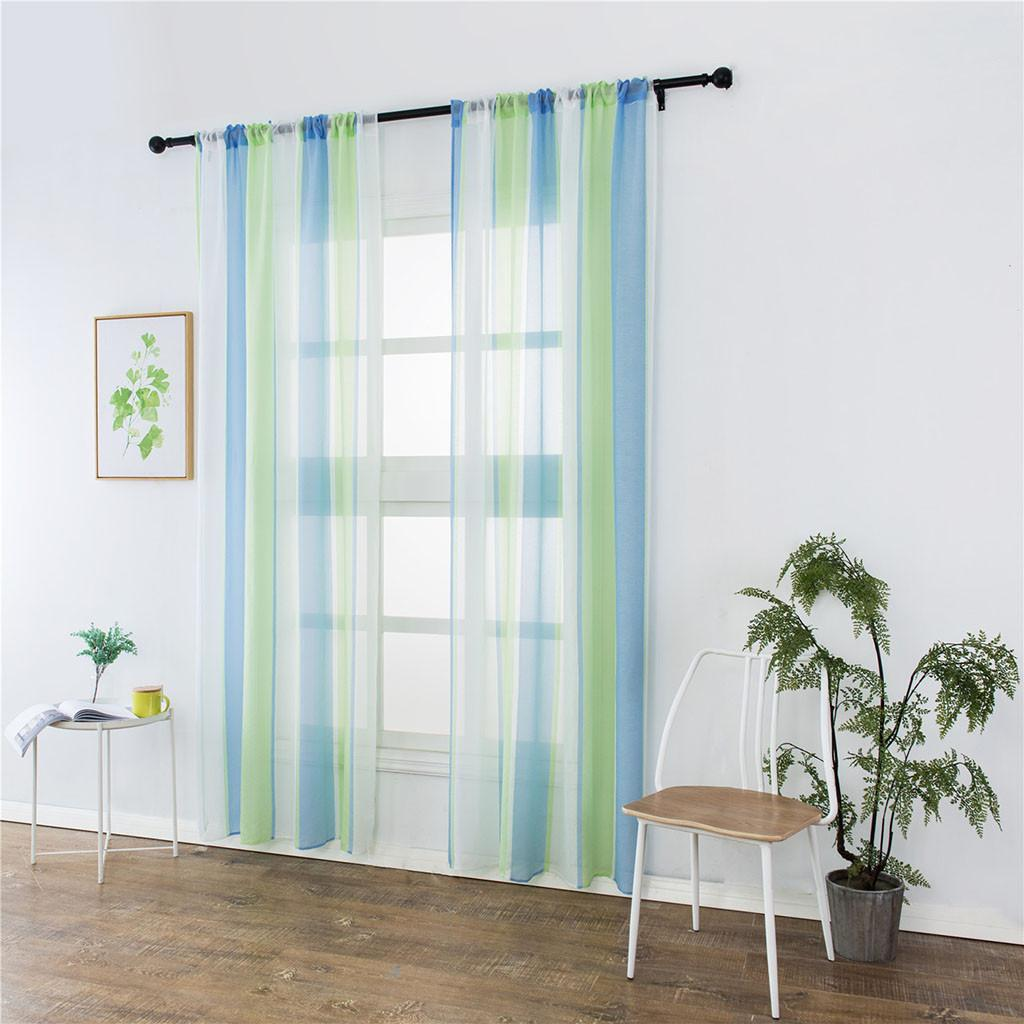 2019 Sheer Curtain Tulle Window Treatment Voile Drape Valance Fabric Modern Curtains For Living Room Transparent Bedroom Drapes Sheer From Hymen
