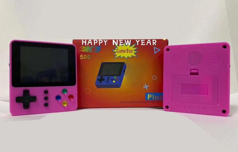 HD 미니 게임 콘솔 3.0 화면 K5 키즈 PK PXP3 PVP를위한 휴대용 게임 박스 비디오 게임 콘솔 게임 플레이어 선물을 손에 들고 500 개 게임을 저장할 수 있습니다