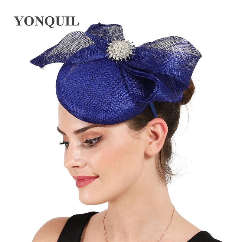 Splendida belle Fascinators razze cappelli per le donne elegante femmina arco di fascinator del cappello delle signore delle ragazze di nozze formale Cappelli vestito da pranzo