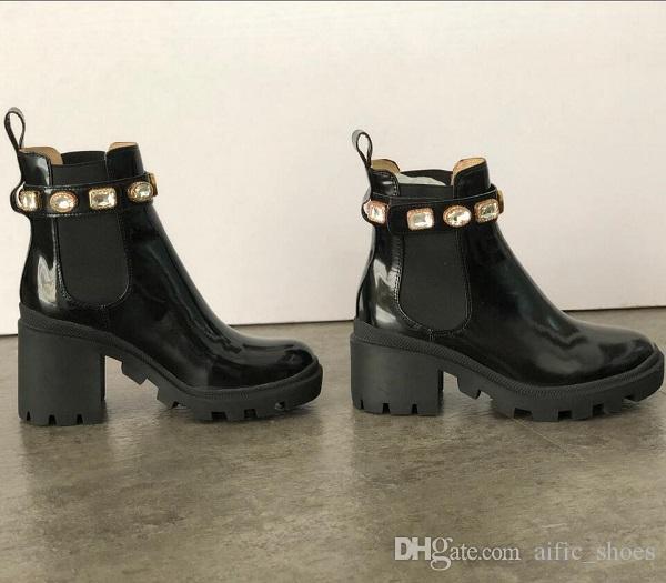 Австралия Женщина Мартин пинетка Fahsion Обувь Desert Boots Вышитой Платформа Leather Boot Ladies Середина пятка лодыжка ботинки с коробкой EU42