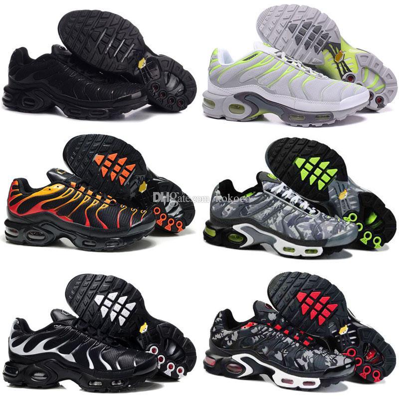 Chegadas chaussure TN Plus tênis de corrida 2019 crianças tn homens tênis de corrida ao ar livre preto branco formadores caminhadas esportes tênis esportivos