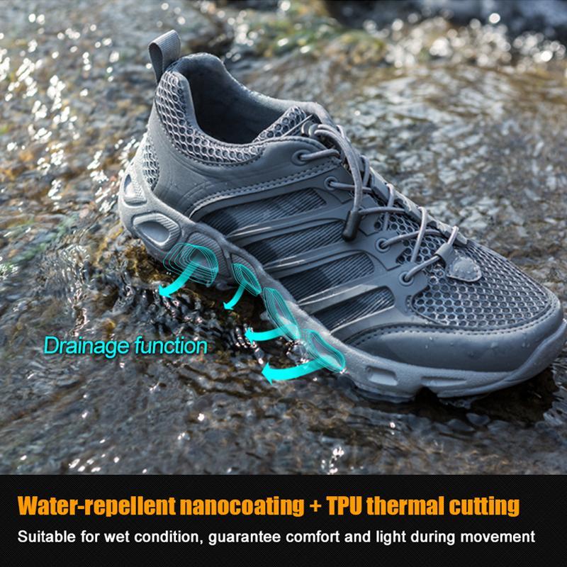 Boussac Free Soldier Спорт на открытом воздухе кемпинга Обуви для мужчин Tactical Туризма Upstream обуви для лета дышащего водонепроницаемого покрытия