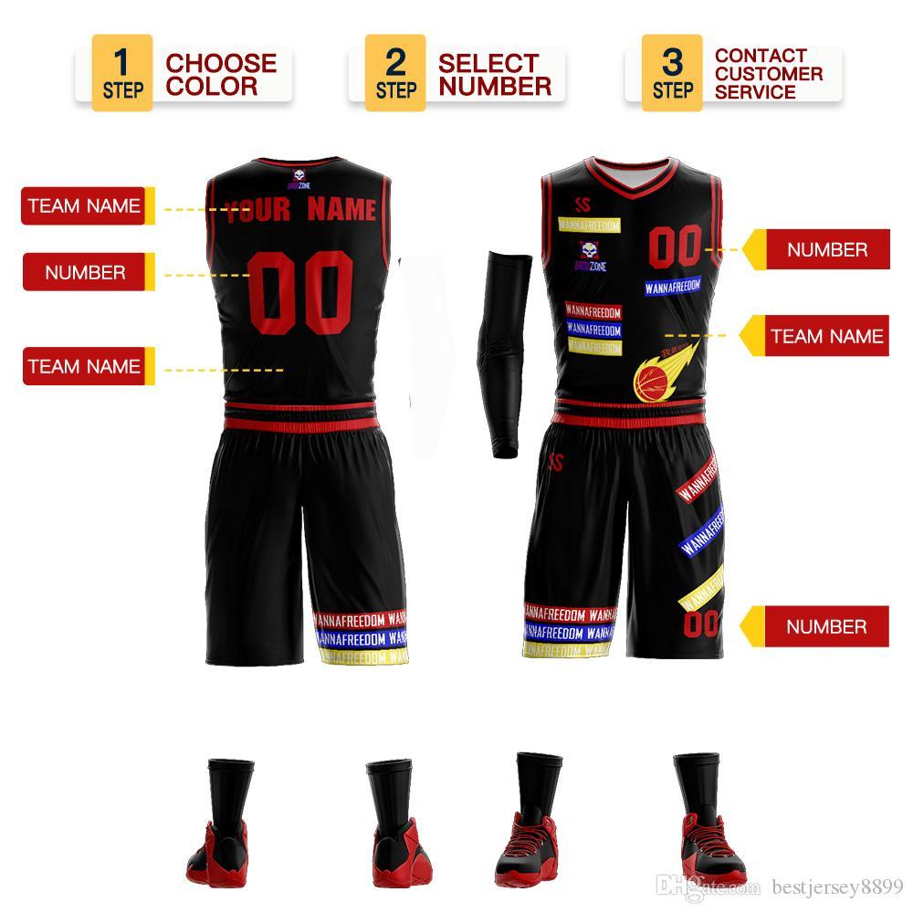 2019 Jerseys para hombres Conjuntos de uniformes de baloncesto baratos Camisa sin mangas Chándales universitarios del equipo Ropa al aire libre de secado rápido