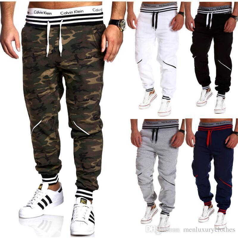Masculino Hommes Pantalone Homens Camuflagem Casual Pants Elastic Sports Pencil Pants Designer