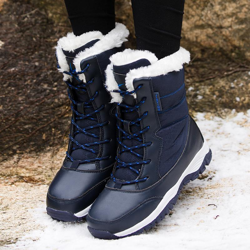 Kids Winter Snow Boots Warm Fur Lined Ankle Booties Anti-Skid Rubble Sole Shoes