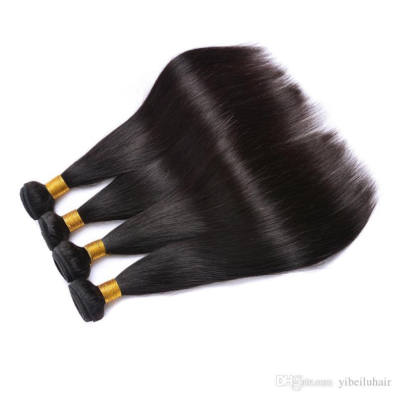 9a بيرو العذراء الشعر مستقيم الشعر 4 حزم صفقة غير المجهزة حريري مستقيم الإنسان الشعر نسج لحمة ملحقات اللون الطبيعي يمكن مصبوغ