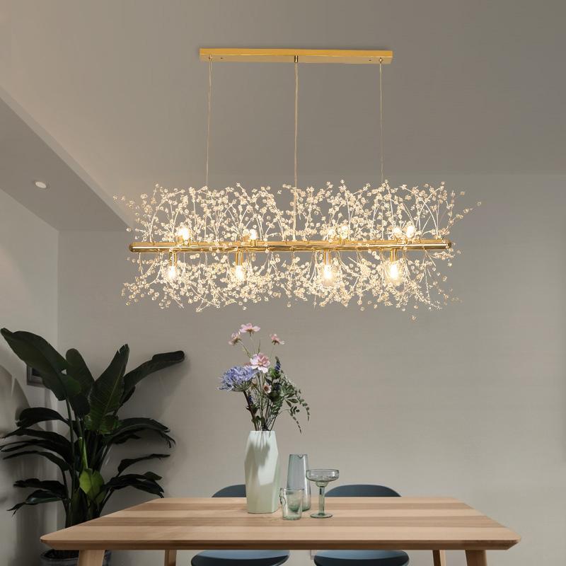Snowflake Kronleuchter Nordic Stil Lampe kreative Persönlichkeit Kristall Modell Atmosphäre Licht Luxuxwohnzimmer Beleuchtung 110V-220V