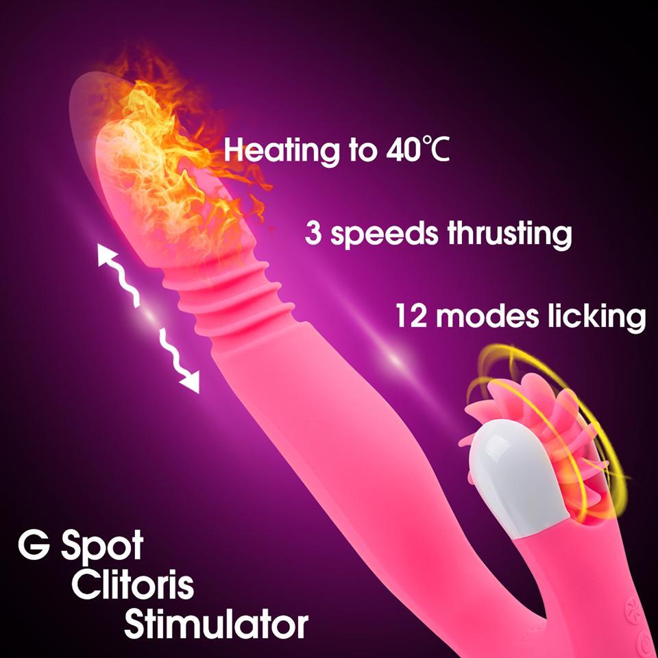 Seks Shop Isıtma Sokmak Dildo Vibratör Kadın Masturbator Erotik Yalama Dil Klitoris G Spot Stimülatörü Oyuncaklar Yetişkin Y19062902 Için