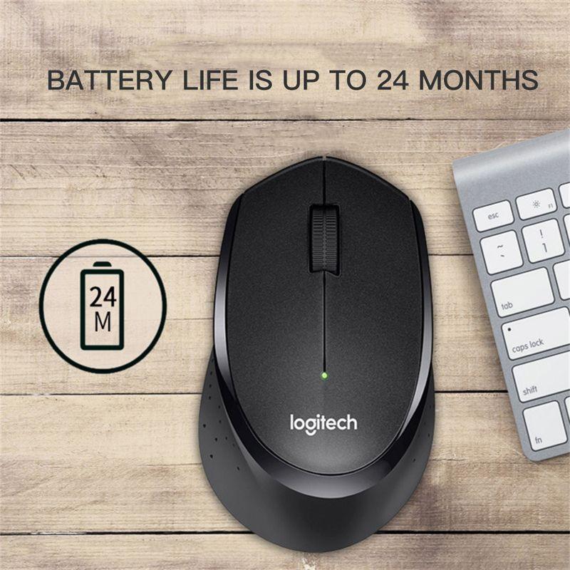 Office Ev Kullanımı PC Dizüstü Gamer DHL Ücretsiz Nakliye için 2.4GHz USB 1600DPI Optik ile Top Kalite M330 Kablosuz Fare Sessiz Fare