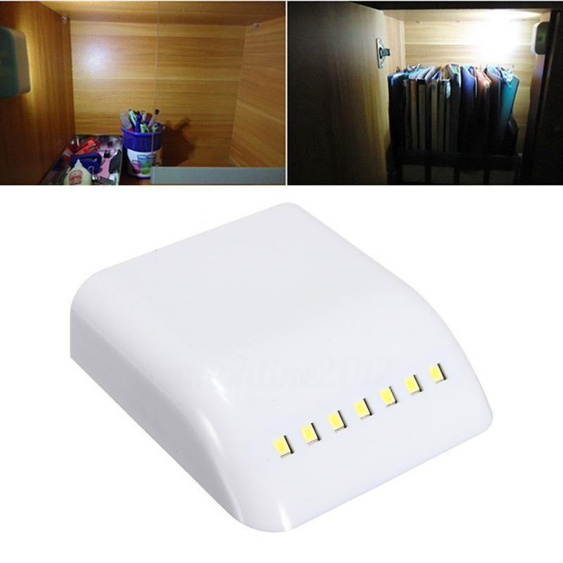 12v Cabin Lamp Practical 7 Led Induction Intelligent Cabinet Wardrobe Battery Lights Door Auto -Switch Sensor Cabinet Light