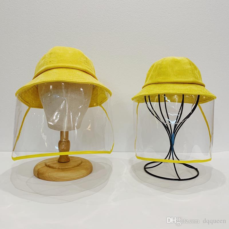 2020 New Kids Bucket Hat Anti-pó e anti-fog Hat Pai-filho Máscara Hat Fisherman Mulheres Outdoor Protective