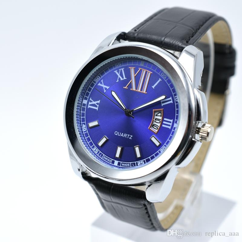 Orologio da polso da uomo da uomo con data analogica digitale di lusso da uomo con cinturino in pelle di quarzo dropshipping 40mm orologio da uomo con orologio da uomo