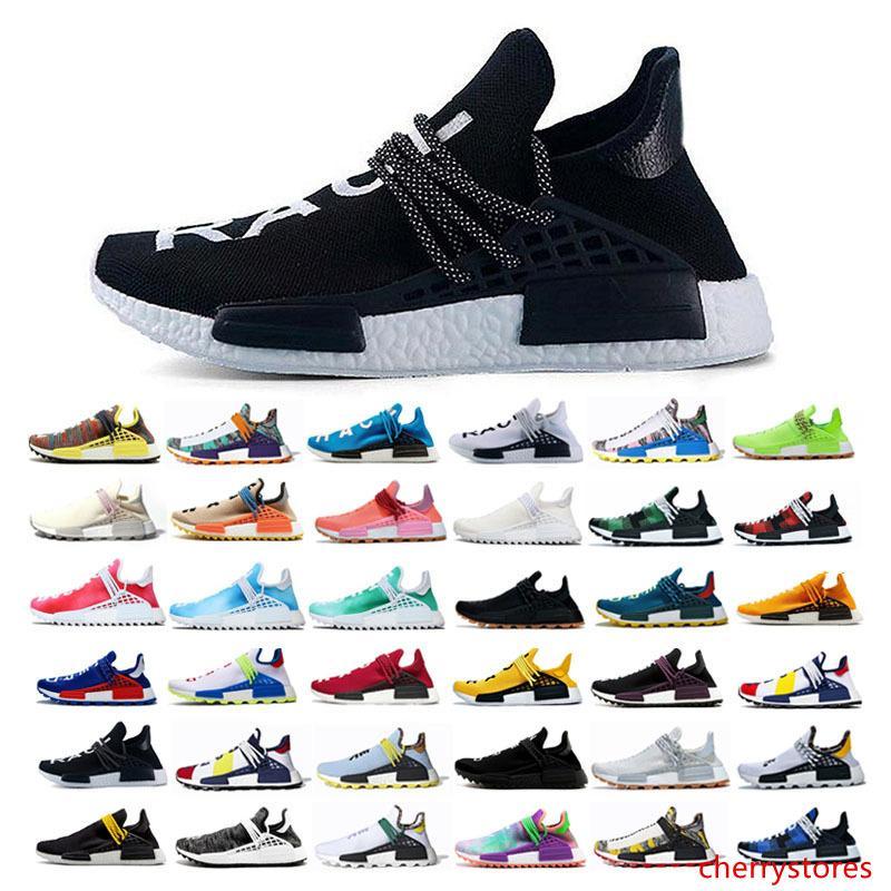 2019 trail razza umana Hu Pharrell Williams pattini correnti degli uomini di sport Nerd blu donne formatori moda nero corridore scarpe da ginnastica