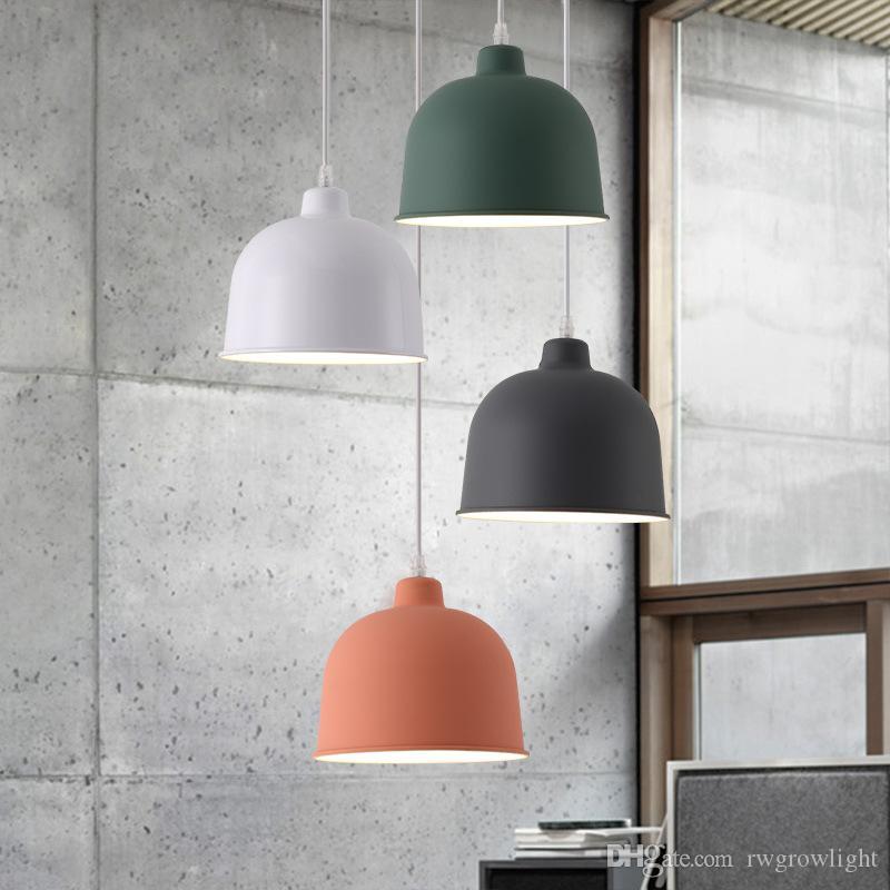 Nordic Personalidad lámpara pendiente de Dinamarca creativo moderno simple Comedor Bar Restaurante de un cabezal de aluminio de color llevado de la lámpara