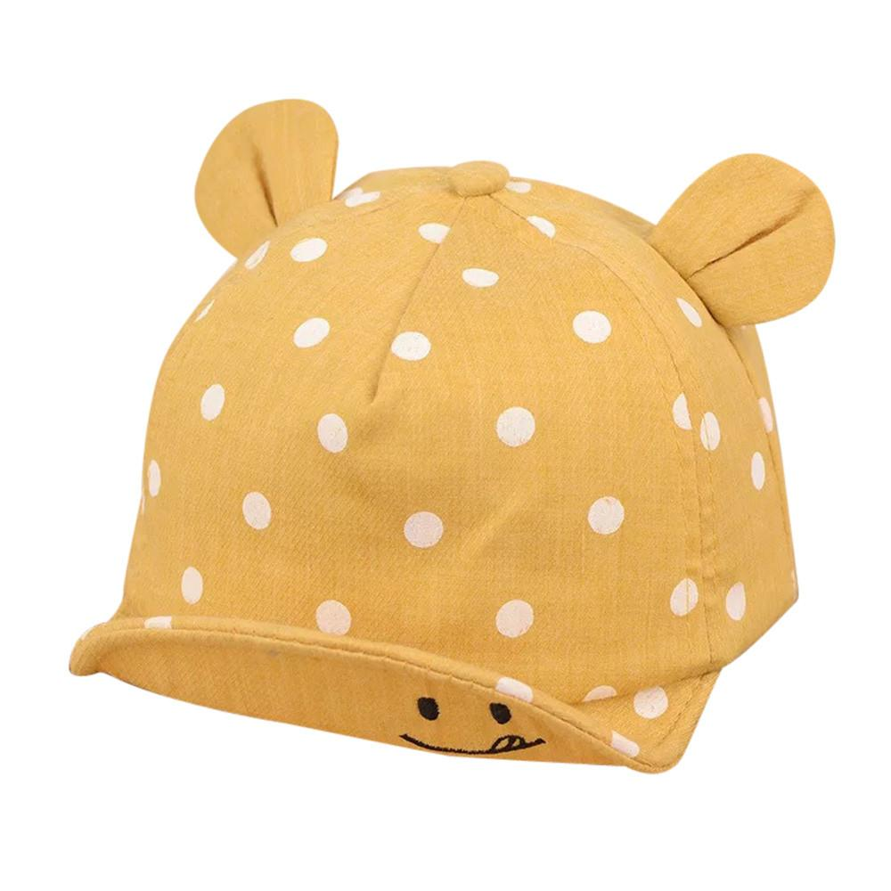 clothes baby hat Cute Infant Kids Bongrace Hat Peak Smiling Face Wave Point Baseball Cap Sunhat newborn photography props #06