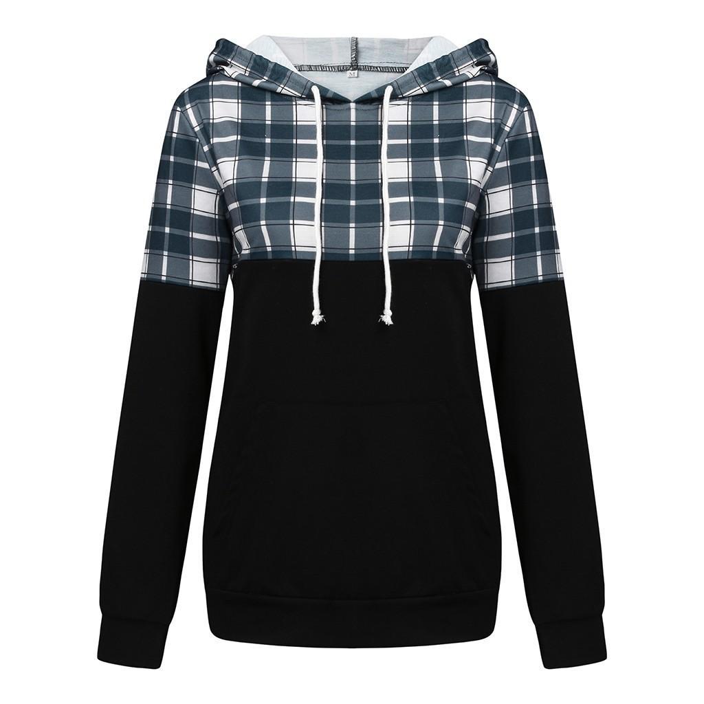 Hamile Giyim 19Nov Besleme Kış Dikiş Kapşonlu Sweatshirt Emzirme Gömlek Ekose Hemşire Üst Şık Hamile Kadınlar Tops