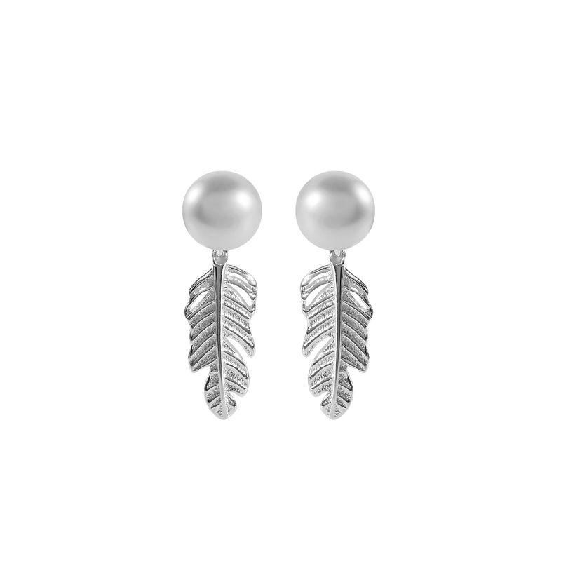 Earrings ear nail eardrop Fashion Female Eardrop S925 pure silver Leaf Jewelry Sweet Lovely new Luxury Free shipping