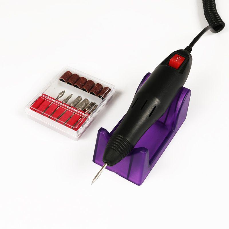 Nail professionnelle électrique acrylique Drill Ponceuses Kit manucure Bits UE US Plug KG66