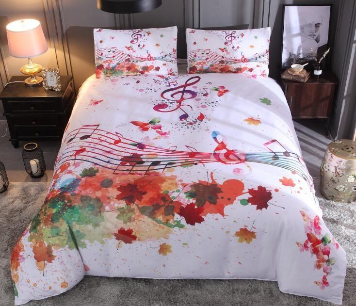 Aquarell Splash Ink Bettwäsche Set Kreative Tröster Bettwäsche Set Bettbezug mit Kissenbezug Full Queen King Size