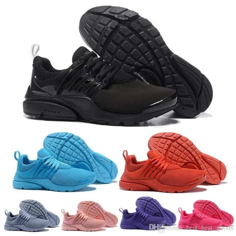 2019 Luxury Designer Sneakers PRESTO 5 BR QS Breathe Red Mens Trainers Donna Uomo caldo scarpa scarpe casual da corsa Nero Bianco Giallo 36-45