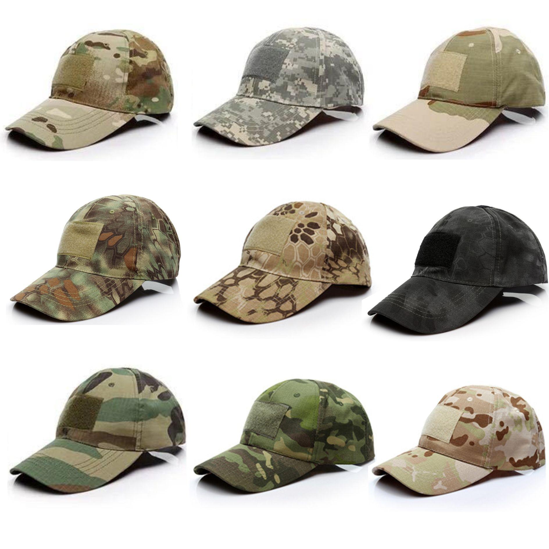 casquette de baseball de camouflage chasse de haute qualité de la formation extérieure tactique sunhat Diverses couleurs de camouflage Donner Velcro Drapeau.