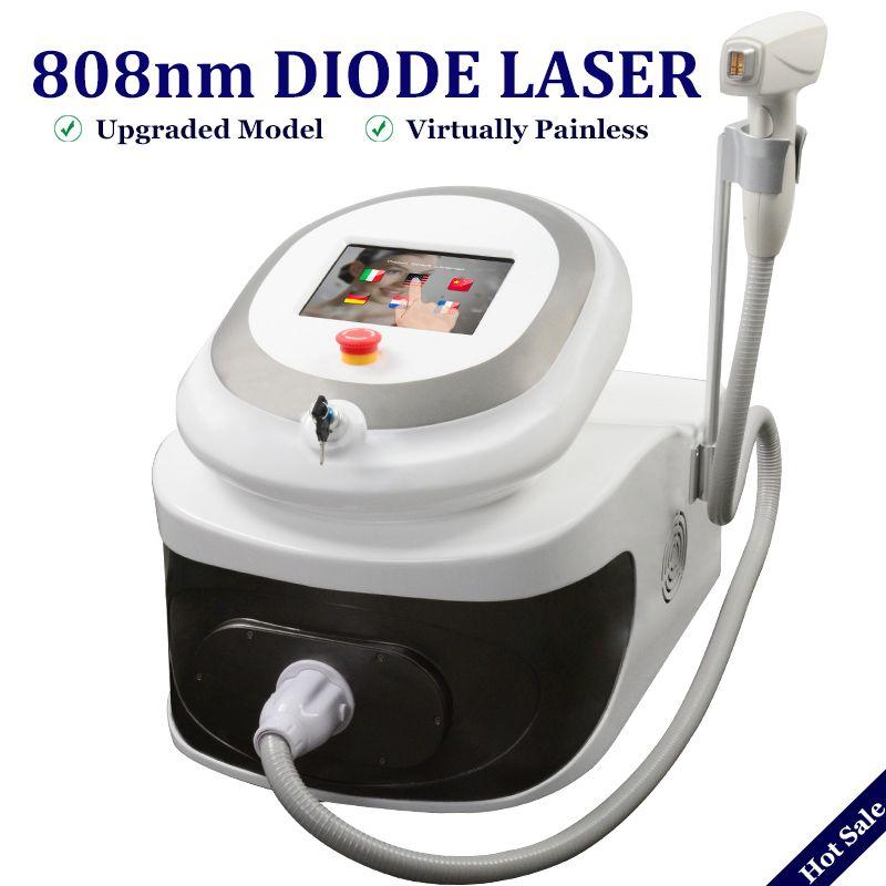Klinik verwenden 808 Diode Laser-Maschine 808nm Professionelle Haarentfernungsgerät 20 Millionen Schüsse Laser Diode Anti Hairs Maschine