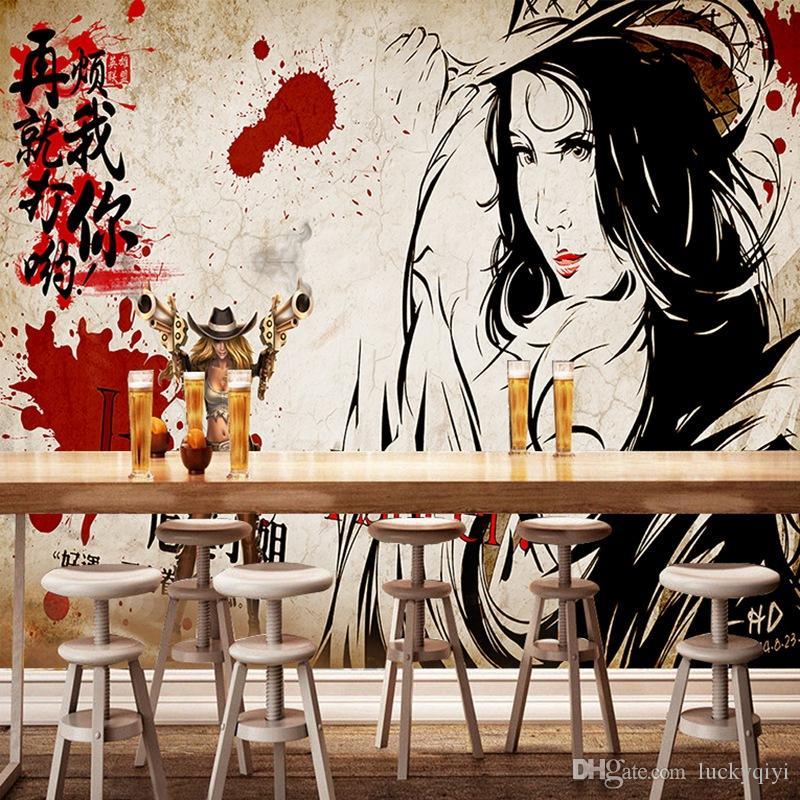 3D özel ipek Çin antik özel duvar kağıdı özel kişilik için büyük kişilik duvar restoran kitapçıda duvar deocaration