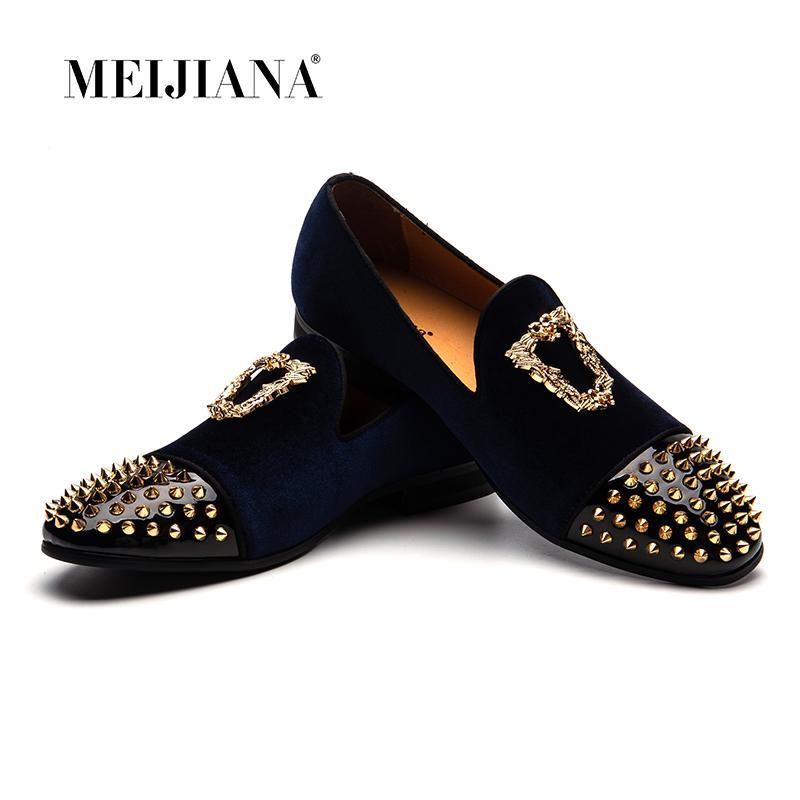Pelle Nubuck MEIJIANA personalizzati a mano Maschio Casual Shoes scivolare su scarpe da sposa Moda Uomo Mocassini