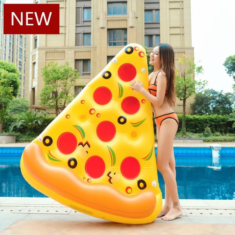 Aufblasbarer Pizza 180cm Schwimmen Floats Wasser Donut Pool Spielzeug aufblasbare Schwimmen Ring für Spaß Erwachsene Schwimmen Luftmatratze