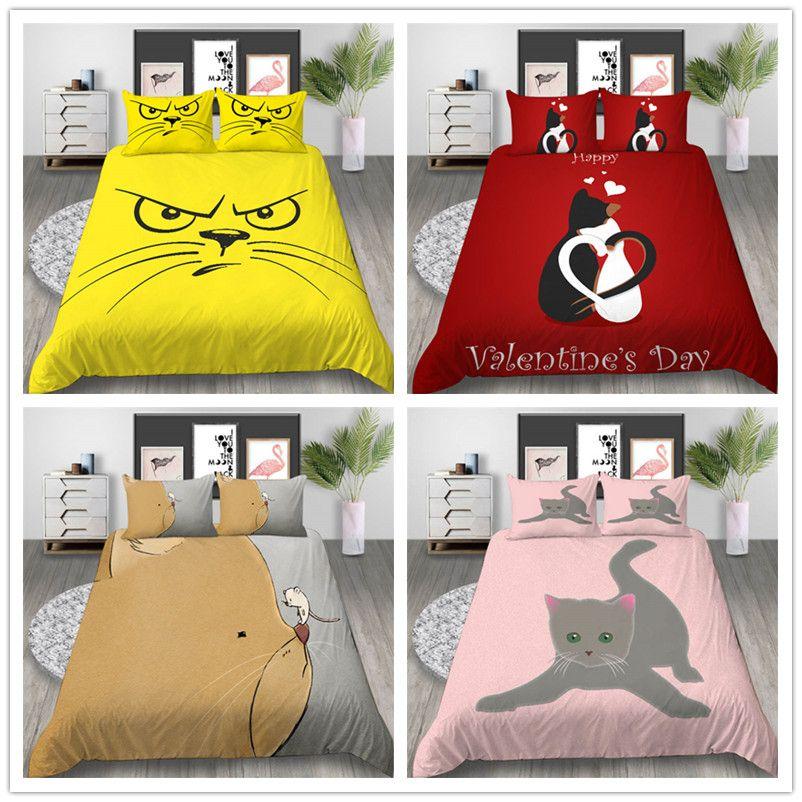 Großhandel Bettwäsche Set Luxus Single Double King Size Bettbezug Set mit Cartoon Tiere Geschenk für Kinder Kind der Bettwäsche Cover
