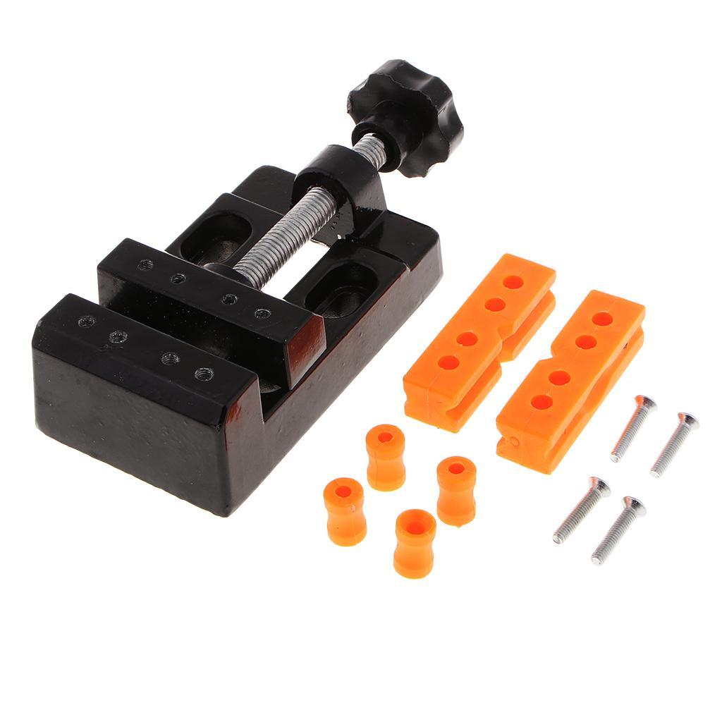 57mm Banc réglable Mini Serre à mâchoire Drill Press Vice Table Vise Bricolage Sculpture Artisanat d'outils à main pour la fabrication de bijoux Modèle Travail du bois