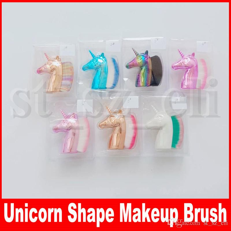Multipurpose Unicorn Shape Foundation Brush Blush Pro Powder Makeup Brush Kabuki Brushes Face Nail Art Make up Brush Tool Beauty Cosmetics