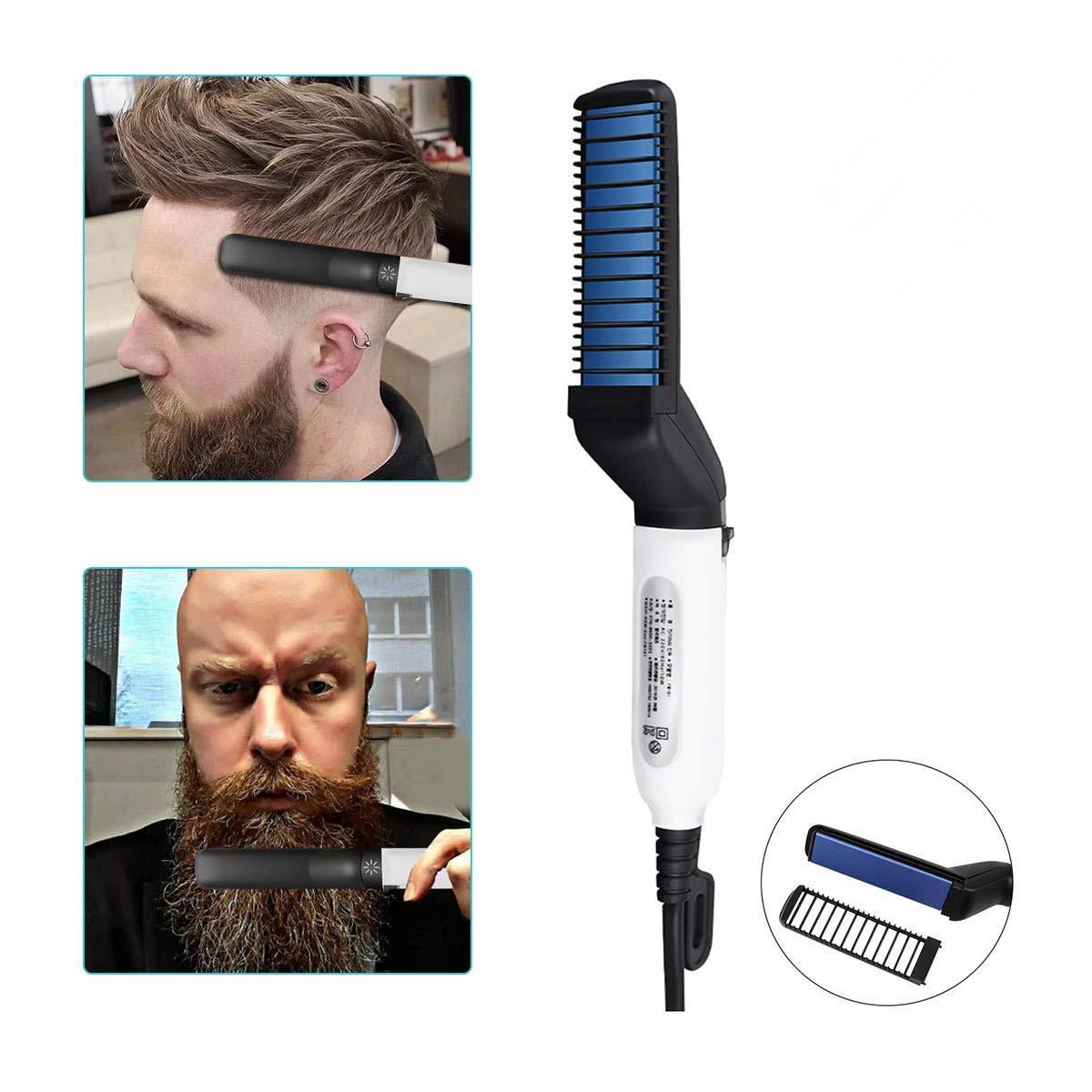 Sakal Düzleştirici Fırça Elektrikli Sakal Düzleştirici ve Saç Düzleştirici Fonksiyonlu Sakal ve Saç Düzleştirici Fırçası Tarak