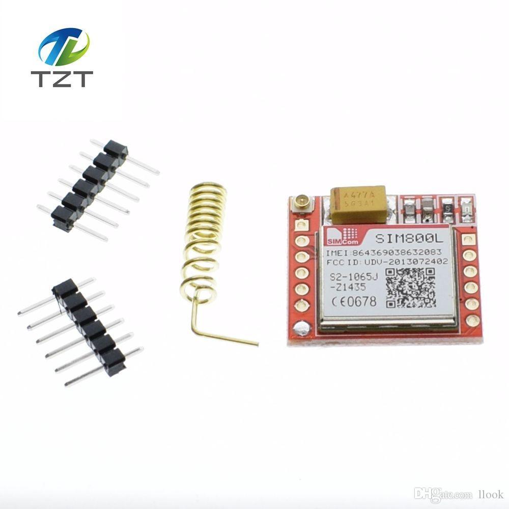 Freeshipping 10pcs Smallest SIM800L GPRS GSM Module MicroSIM Card Core BOard Quad-band TTL Serial Port