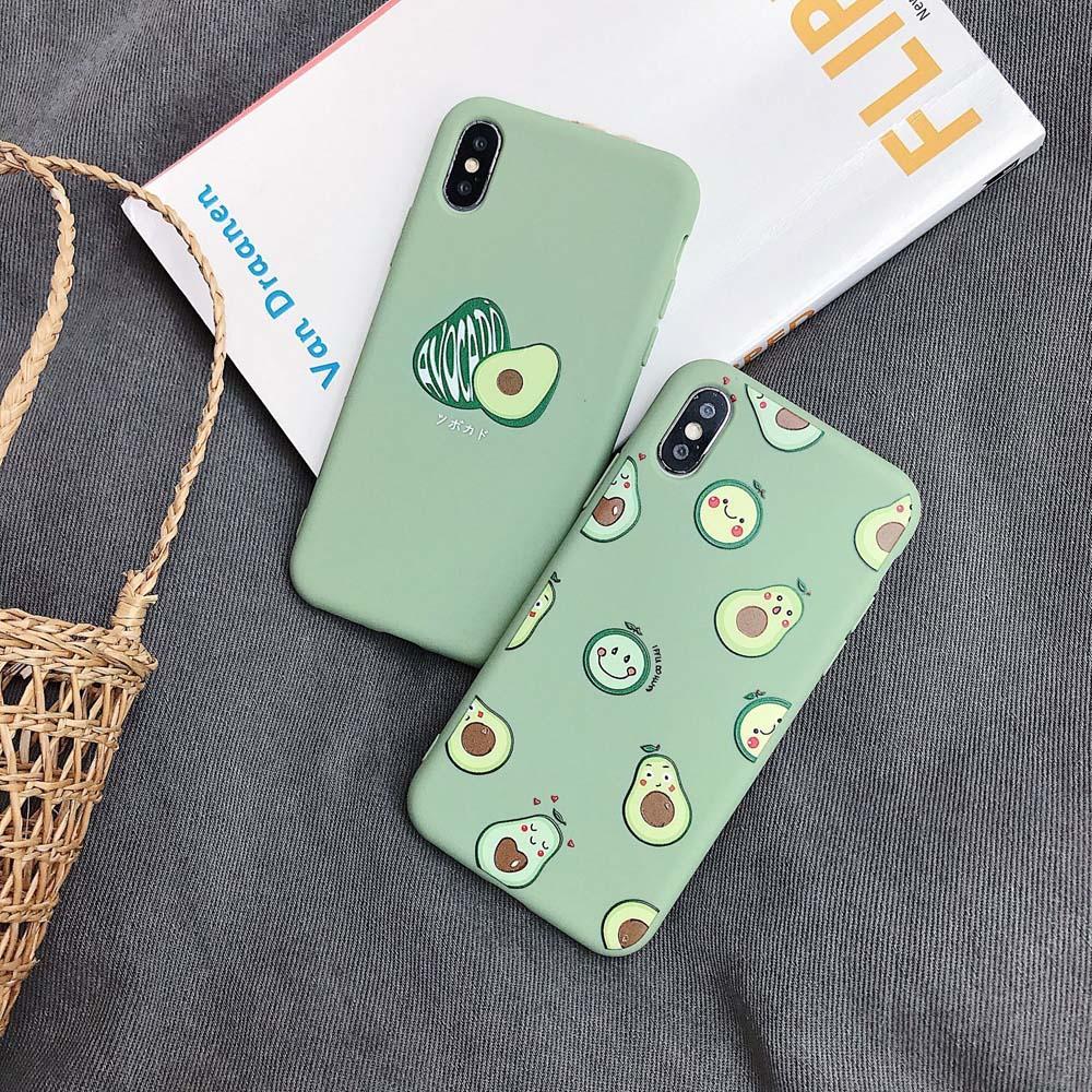 حالات طباعة الفاكهة للحصول على حالة iphonePhone 7 8 زائد السيليكون لينة تغطية الصلبة للحصول على لون iphonePhone XS 6 6S XR X ماكس الهاتف 11 قضية المؤيد