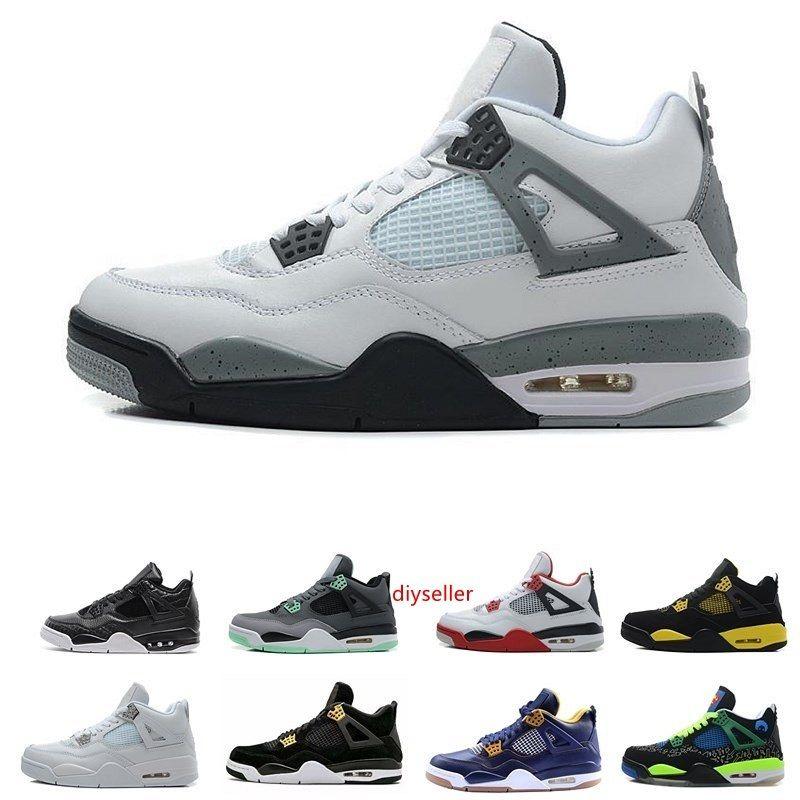 Sumer 4 tênis de basquete clássicos para homens puros calçado desportivo dinheiro desenhador casuais cimento branco esportes tênis tamanho 41-46