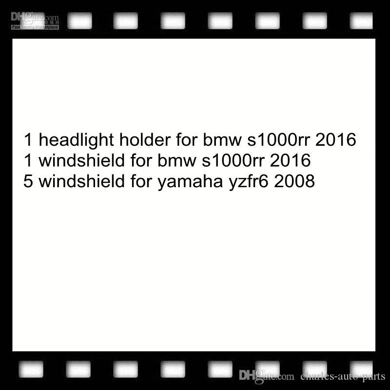 1 headlight holder for bmw s1000rr 2016 1 windshield for bmw s1000rr 2016 5 windshield for yamaha yzfr6 2008