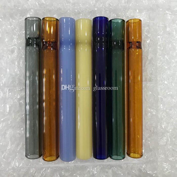 10 centímetros tubo lançador 4 polegadas de vidro de um tubo de suporte lançador bastão OG vidro de espessura de vidro de pirex durante cachimbos mão tabaco DHL